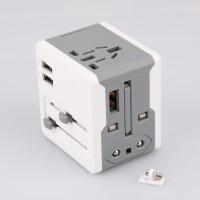 全球通2A/1A(企业LOGO定制) 双USB转换插座旅行 出差A7