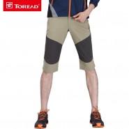 探路者2016春夏新款户外男式弹力速干徒步中裤