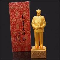 定制            毛主席铜像 一代伟人 开国大典毛泽东 办公风水摆件