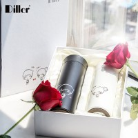 Diller创意不离不弃情侣保温杯不锈钢男女士杯子可爱学生杯两个装