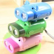 可爱小猪 环保手压灯 手压自发电手电筒 应急手电筒 印LOGO