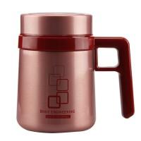 新品希诺保温杯 不锈钢双层真空水杯 男女高档带把办公室泡茶杯子
