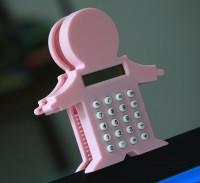 创意个性计算器可爱小人计算器带磁性带夹子计算器 可印logo