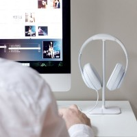 高品质铝合金耳机支架 金属耳机展示架 头戴耳机挂架定制LOGO