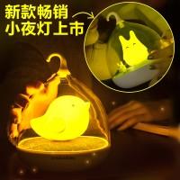 创意鸟笼灯 usb充电小夜灯 微景观 LED智能触碰鸟笼灯定制LOGO