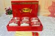 碗筷碗勺餐具陶瓷礼品套装公司庆典回礼时尚大方礼物