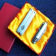 瑞士多功能刀具 时尚礼品军刀两件套 (11开小刀+多功能钳)