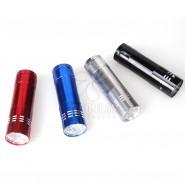 厂家直销9LED灯手电筒迷你小手电 3节7号电池定制礼品logo