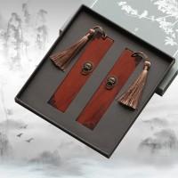 创意瑞兽紫檀木书签 古典金属中国风书签 可定制商务礼品