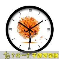 定制             树木时钟 挂钟欧式客厅时尚钟表创意座钟来图订做大号欧式静音钟