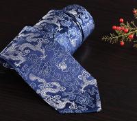中国风 100%真丝云锦领带 男 商务礼品 出国送老外 北京纪念品 正