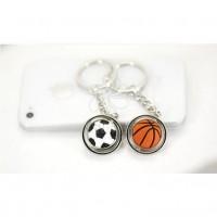 【直接厂家】旋转足球篮球硅胶小号钥匙扣球迷必备体育用品批发