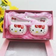 厂家直销 餐具套装 礼品袋套装 碗勺餐具 卡通Kitty 韩式碗ky
