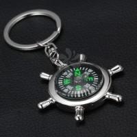 船舵指南针钥匙扣精美年会店庆刻字刻logo现货