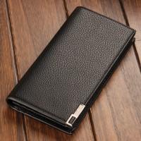 韩版男士长款钱包多卡位皮夹商务真皮钱夹 商务礼品可印LOGO定制