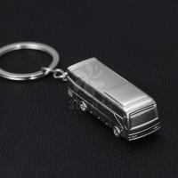 【厂家新品】立体光面点电镀面包车巴士钥匙扣可加印logo现货批发