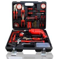 家用工具套装 电钻多功能五金工具箱 电工维修手动工具组套