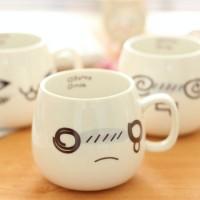 表情萌杯创意陶瓷杯 牛奶早餐瓷杯创意杯子批发 特价支持礼品LOGO定制