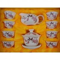 陶瓷茶具10头功夫茶具(普通花面) 会议商务活动礼品