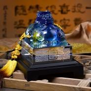誉满四海玺印琉璃貔貅摆件 高档商务办公礼品摆件送领导送客户