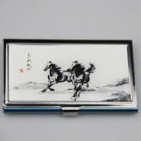 中国风青花瓷名片盒创意名片夹男士女士商务时尚名片盒可定制LOGO