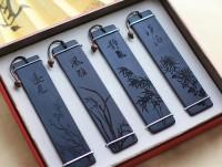 古风黑檀木质书签 中国风创意定制书签 可定制开学礼物