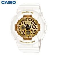 卡西欧BABY-G BA-120LP 潮流豹纹手表户外运动女表石英表限量发售