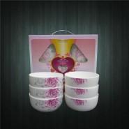 供应陶瓷餐具 温馨瓷器碗勺套装 韩式碗 礼品碗 6碗6匙套装