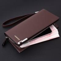 新款男士钱包长款手包韩版商务拉链多卡位大容量手包真皮钱包
