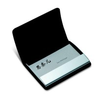 包邮名片盒男士 商务送礼金属名片夹  女士名片收纳盒 订制签名