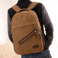 新款学院风男女通用中学生书包帆布双肩背包可订做定制LOGO