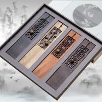 四色窗格红木书签  中国风创意书签  黑檀木可刻字 定制