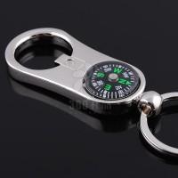 德国男士个性指南针钥匙扣 金属订制激光LOGO刻字