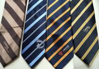 各种企业定制LOGO领带。南韩丝领带 真丝领带