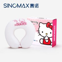 SINOMAX/赛诺helloKitty凯蒂猫正版授权彩虹U型枕记忆枕头护颈枕
