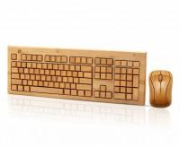 无染竹品 中国风全竹无线竹键盘套装礼品套装 竹制键盘LOGO定制