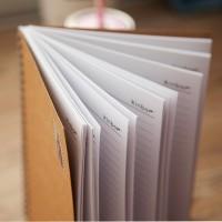 定做侧翻牛皮纸线圈本 商务笔记本 记事本 工作手册定制可印LOGO