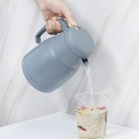 保温瓶304不锈钢真空欧式保温壶按压式大容量便携式带手柄冷水壶