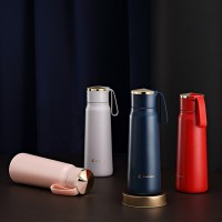厂家直销 创意中国风保温杯复古提绳水杯不锈钢文艺杯子礼品定制